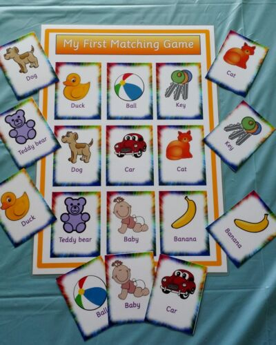 SPECIAL NEEDS// PRE-SCHOOL// EYFS// FIRST LEARNING TODDLERS FIRST MATCHING GAME