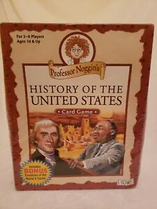 Professor NogginHistory The United States Card Game 2013 New Sealed Home School