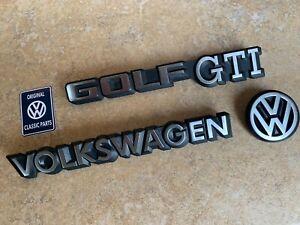 Mk1-Golf-GTI-Cabriolet-Sportline-Rivage-REAR-Badge-SET-NOS-OEM