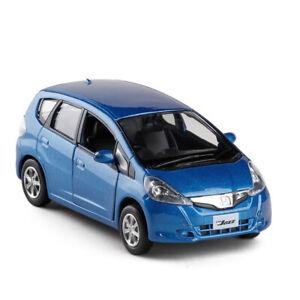 1-36-Honda-Jazz-Metall-Die-Cast-Modellauto-Auto-Spielzeug-Model-Sammlung-Blau