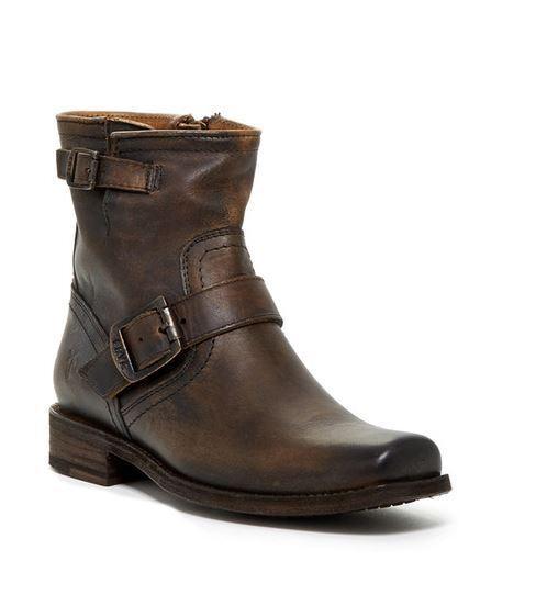 Frye Smith Engineer Correa Correa Correa Hebilla De Cuero Marrón Tostado botas al Tobillo corta para mujer 5.5  ¡envío gratis!