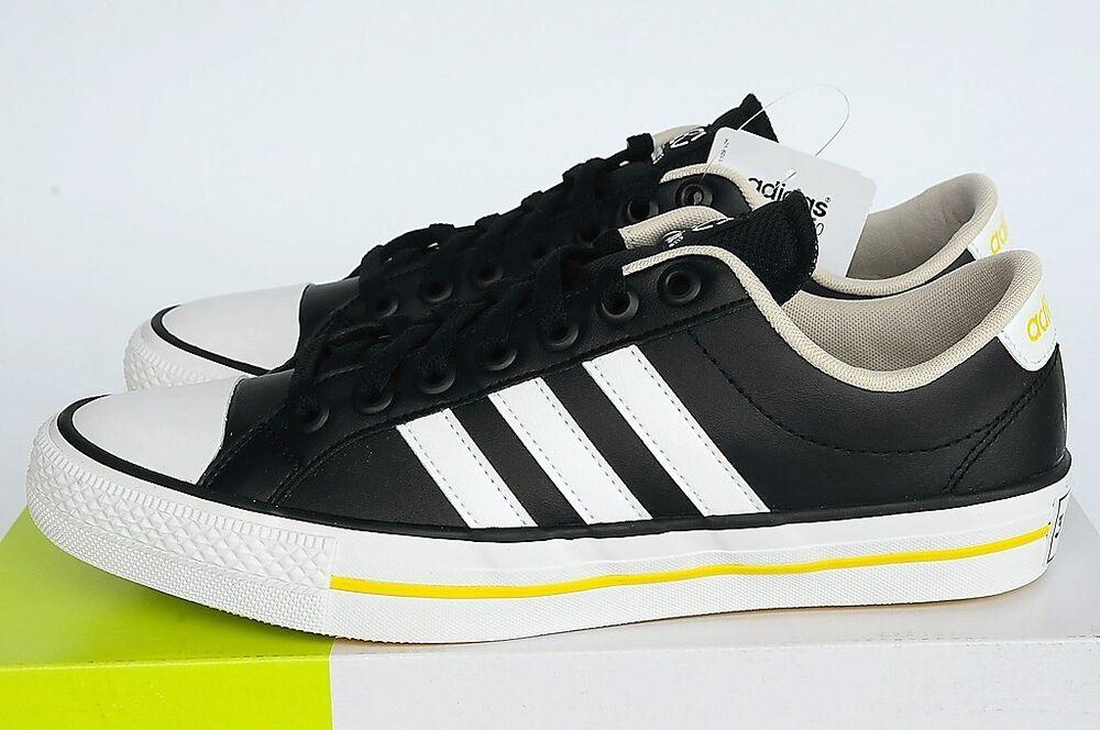 Adidas VL Neo 3 réparti Lo en cuir noir taille 41 1/3 Neuf-
