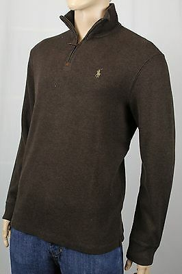 Polo Ralph Lauren Brown 1/2 Half Zip Sweater Tan Pony NWT