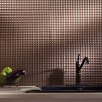 Kitchen Backsplash Decorative Vinyl Panel Wall Tiles Bathroom Bath Dark Bronze