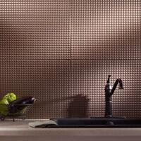 Kitchen Backsplash Decorative Vinyl Panel Wall Tiles Bathroom Bath Dark Bronze