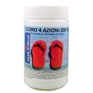 CLORO-4-AZIONI-PER-PISCINE-IN-PASTIGLIE-DA-200-GR-LAPI-CHIMICI