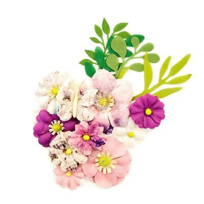 Prima Flowers MOON CHILD Light Years Paper Flowers 14//pk Scrapbook 636593