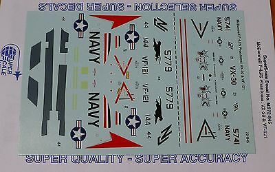 Microscale Decal 1:72 Scale #MS72-845 McDonnell F-4J/S Phantoms: VX-30 & VF-121