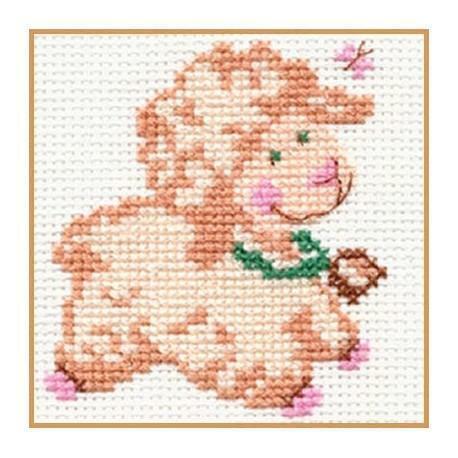 Alisa Counted Cross Stitch Kit-biasha l/'agneau
