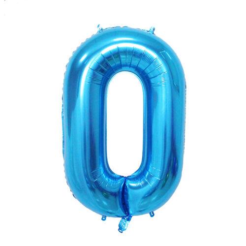 40/' hoja de gran número enorme globo de helio Oro Plata Rosa Azul 0123456789 Reino Unido