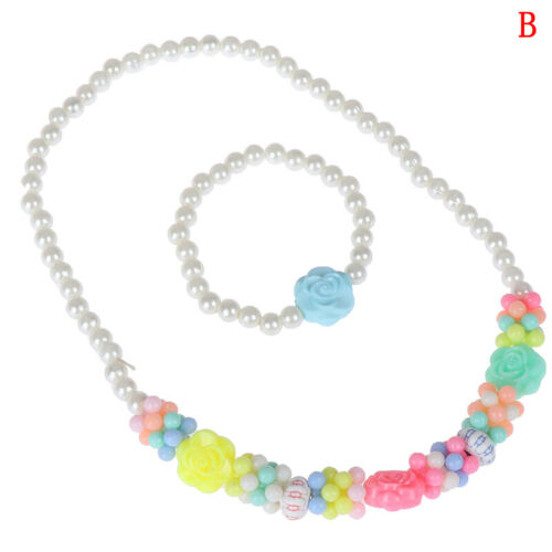 1Set new child beads necklace colorful girls bubblegum handmade for kids toy UV