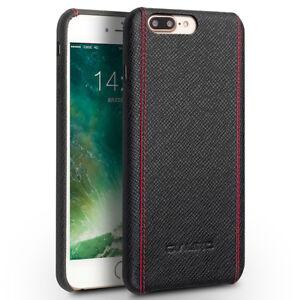 Coque-Protection-Etui-Dorsal-Rigide-en-Cuir-Veritable-iPhone-7-Plus-Noir-2