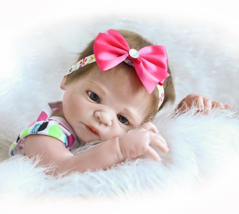 FULL body vinile in silicone RINATO BABY GIRL DOLL HANDMADE realistici KID TOY