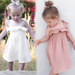 842d4465cc8d9 Details about Infant Baby Girl Summer Strap Sleeveless Dress Beach Sundress  Skirt Outfit HOT