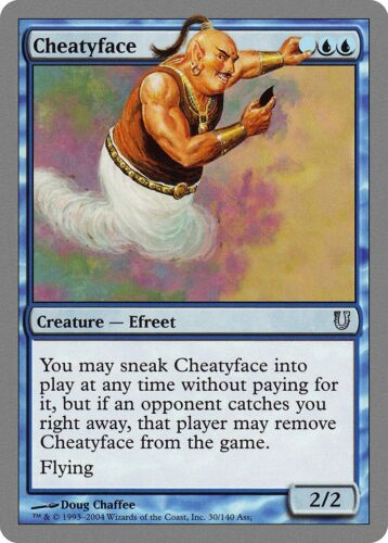 Cheatyface Unhinged PLD-SP Blue Uncommon MAGIC THE GATHERING MTG CARD ABUGames