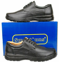 Mens New Black Lace Up Light Weight Casual Comfort Shoes Size 6 7 8 9 10 11 12