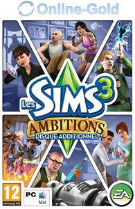 Les-Sims-3-Ambitions-pack-d-039-extension-Cle-EA-Origin-Carte-PC-Jeu-FR