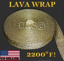 50' High Heat Fiberglass Exhaust Pipe Header Wrap Titanium Thermo Cool Cover It