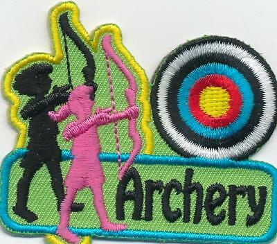 Boy Girl cub MARKSMAN Archery Bow Arrow Patches Crest Badges GUIDES SCOUT Target