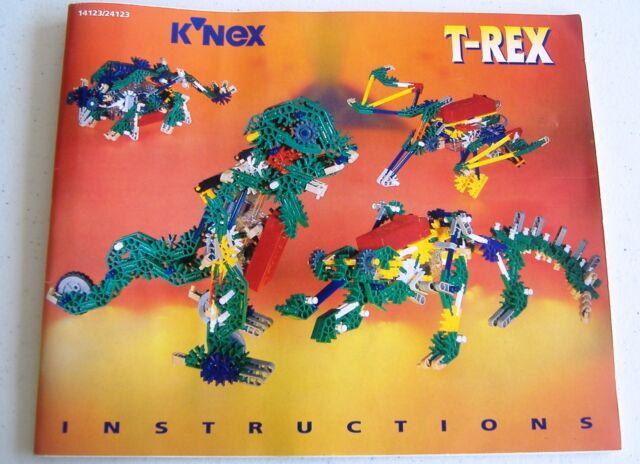 Knex T Rex Building Dinosaur Instructions Manual 14123 24123