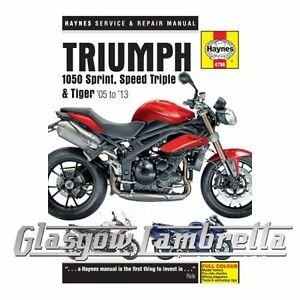 Haynes-Service-amp-Repair-Manual-4796-Triumph-1050-Sprint-ST-Speed-Triple-amp-Tiger