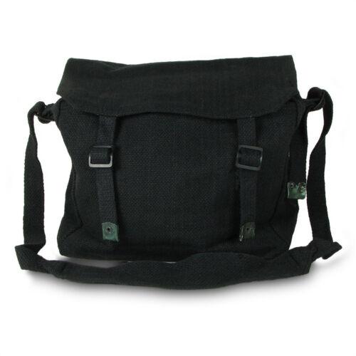 Lunch Bag Unisex by Highlander Black Vintage Style Canvass Messenger Bag