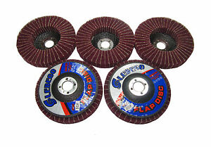 RDG-5-X-4-034-RED-SCOTCH-BRITE-EMERY-METAL-FLAP-DISK-POLISHING-FINISHING-ABRASIVE