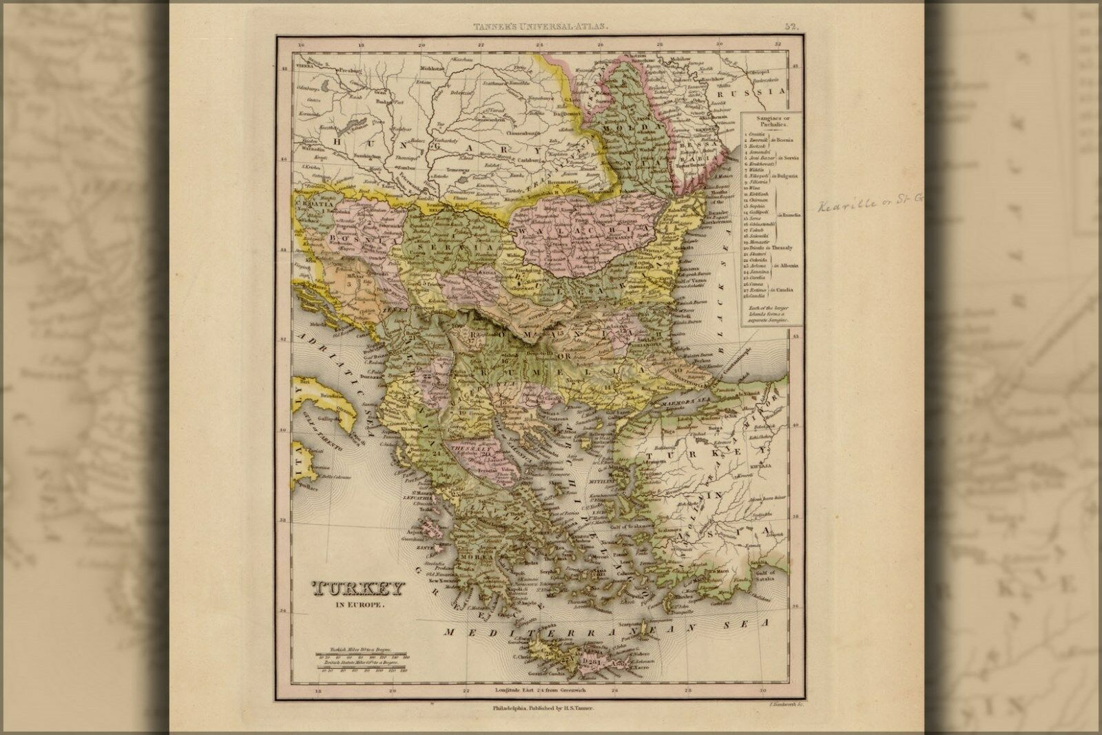 Poster, Many Größes; Map Of Turkey 1844