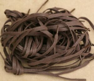 LACES-7-x-Pairs-90-cm-36-034-Flat-Waxed-Cotton-7mm-Wide-Brown-Short-For-Shoes-Boots