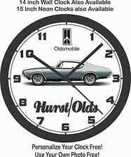 1968 OLDSMOBILE HURST- OLDS WALL CLOCK-Choose 1 of 3