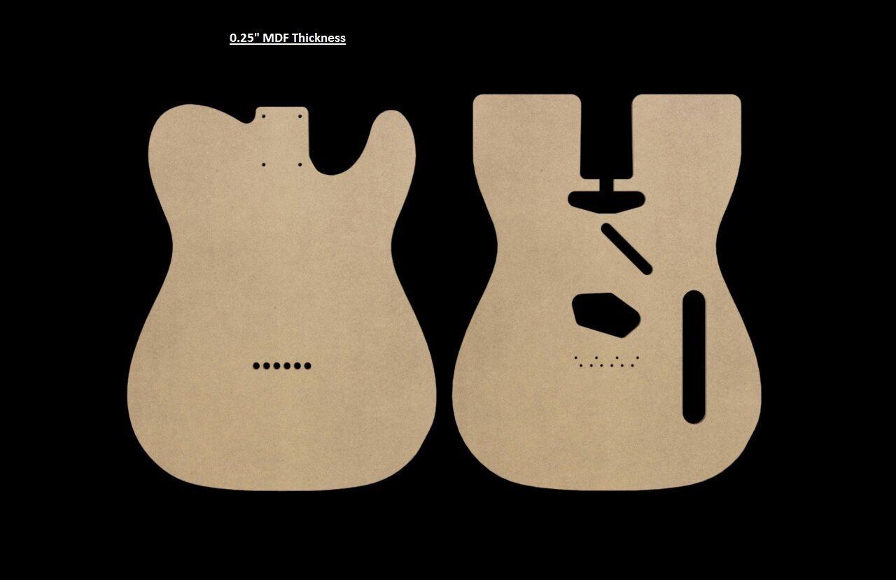 Telecaster Mdf Guitar Body Template 025 Thickness Cnc Made Tele Ebay