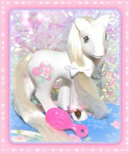 My-Little-Pony-MLP-G1-Vtg-1989-Bridal-Beauty-White-Wedding-Bride-Pony-Tinsel