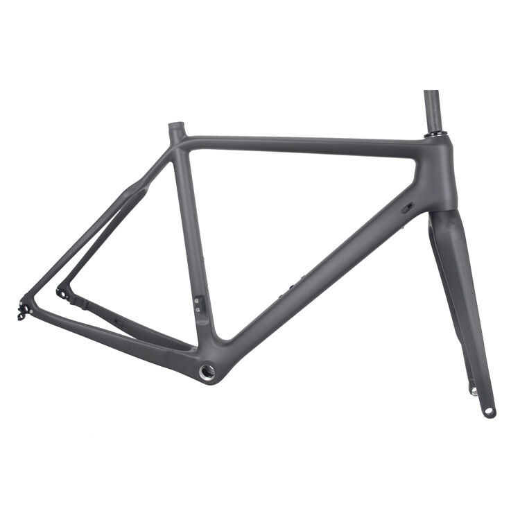56cm Cyclocross Carbon Frame Fork Disc Brake 700C Gravel Bike Flat Mount CX Di2