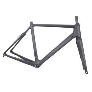 56cm-Cyclocross-Carbon-Frame-Fork-Disc-Brake-700C-Gravel-Bike-Flat-Mount-CX-Di2