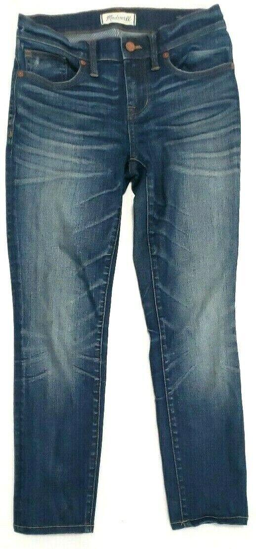Madewell Womens Jeans Size 26 Stretch Skinny Skinny Crop Medium Wash bluee
