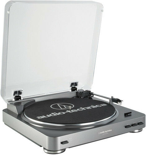 New Turntable Belt Drive Audio Technica AT-LP60-USB Turntable Built-In Prea