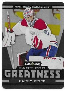 2018-19-Upper-Deck-Synergy-CAREY-PRICE-Cast-for-Greatness-Black-Metal-Plate
