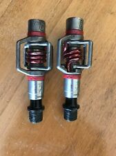Used Crank Brothers Egg Beater 3 Bike Pedals: Silver with Red Spring