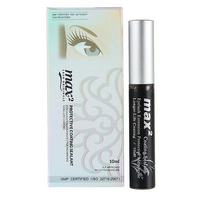 Max2 Black Coating Sealant Eyelash Extension Protective Membrane Longer life 10m
