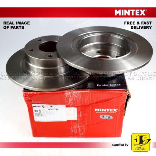 BMW 1 E81 87 118 120 3 E90 316 318 320 E92 316  MINTEX REAR DISC MDC1746 PAIR