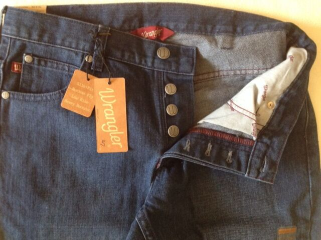 Wrangler by Built by Wendy Jeans. WE122HG.Buttons.W30L34.NWT.$142.Dark Navy