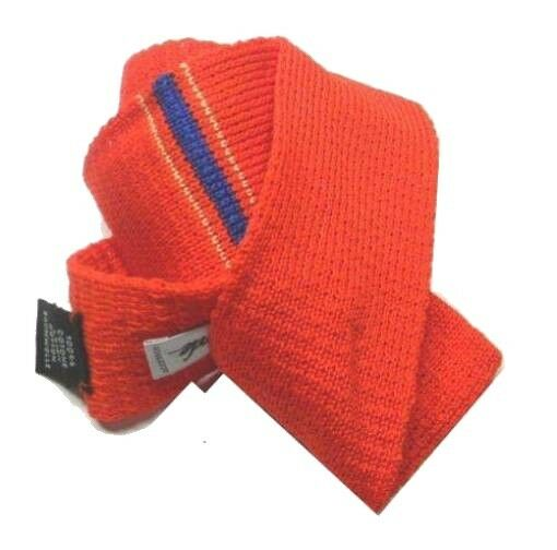 Analytique Cravatta Maglia Cotone Tricot Made Italy Rossa Riga Centro Azzurra Uomo Classe Promouvoir La Santé Et GuéRir Les Maladies