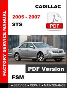 2005 cadillac sts service manual