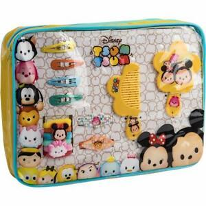 Disney-Tsum-Sac-a-Main-Housse-de-Transport-Wit-14-Accessoires-Cheveux