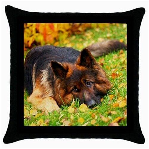 GERMAN SHEPARD Throw Pillow Case-chien chiot