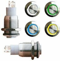 EDELSTAHL Drucktaster, Taster,  Klingeltaster, Klingelknopf, LED beleuchtet 004