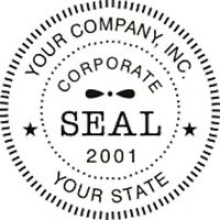 Self-inking Round Corporate Business Company Logo Seal Rubber Stamp,