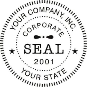 selfinking round corporate business company logo seal