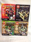 4 Minecraft Lego Sets Lot 21102 21105 21106 21107 End Village Nether Forest NEW