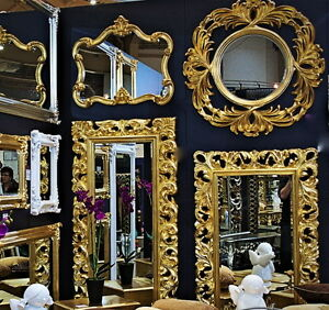 gro er barock wandspiegel flurspiegel 149x89 cm standspiegel spiegel gold antik ebay. Black Bedroom Furniture Sets. Home Design Ideas